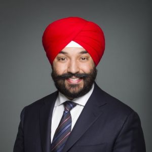 head shot of Navdeep Bains