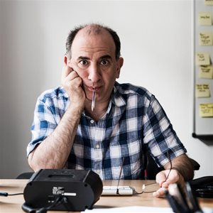 head shot of Armando Iannucci