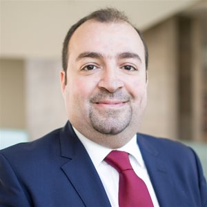 head shot of Wissam AlHussaini, PhD
